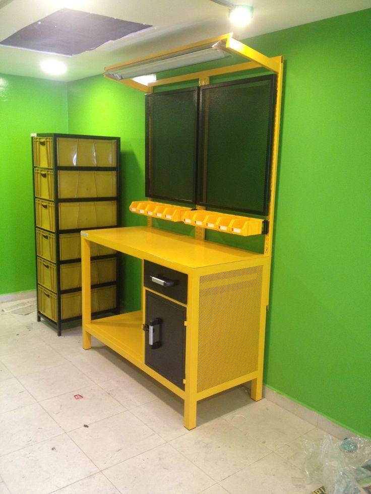 Mesa banco de trabajo industrial electronica moduplastic for Garage allo service auto sonnaz