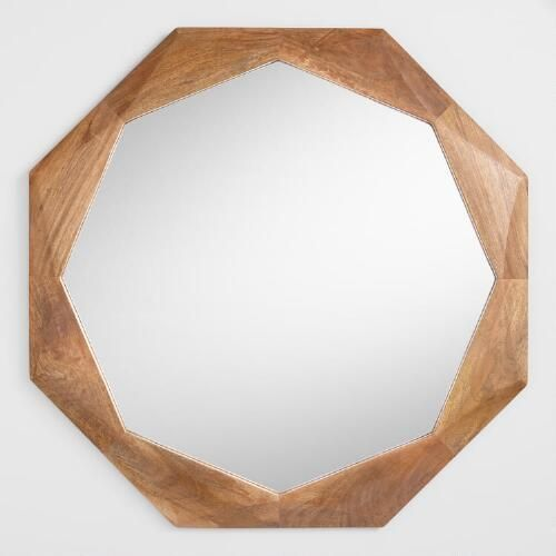 One of my favorite discoveries at WorldMarket.com: Wood Octagon Mirror