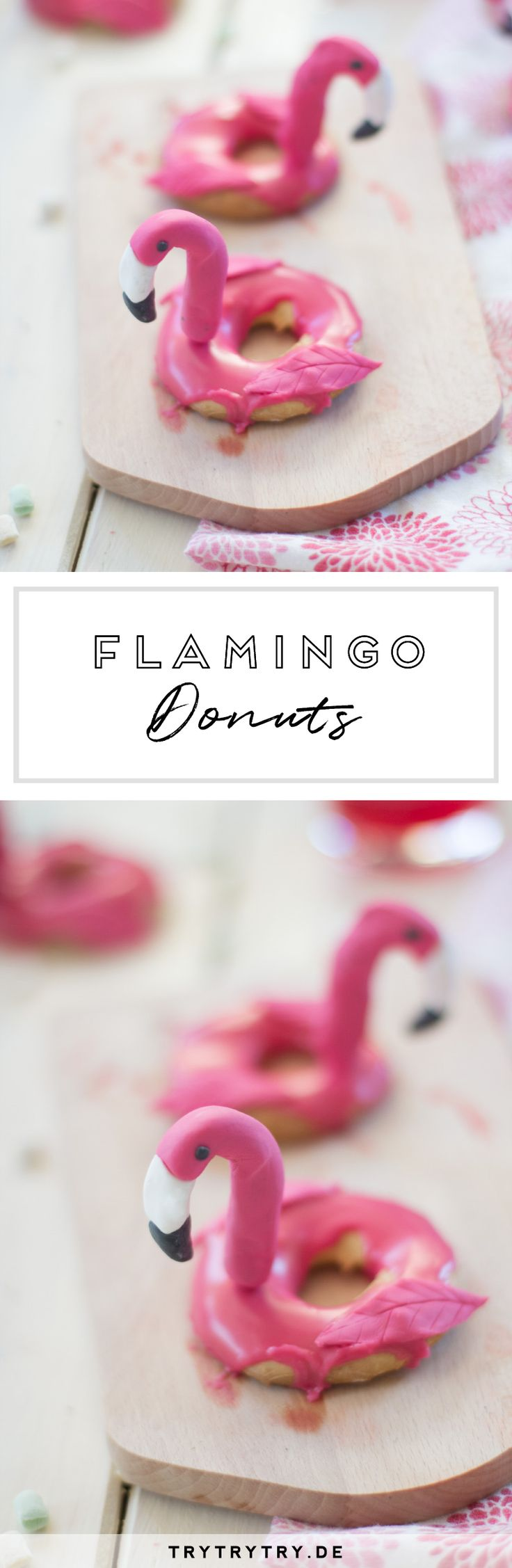 Fast zu süß zum Essen: Flamingo Donuts
