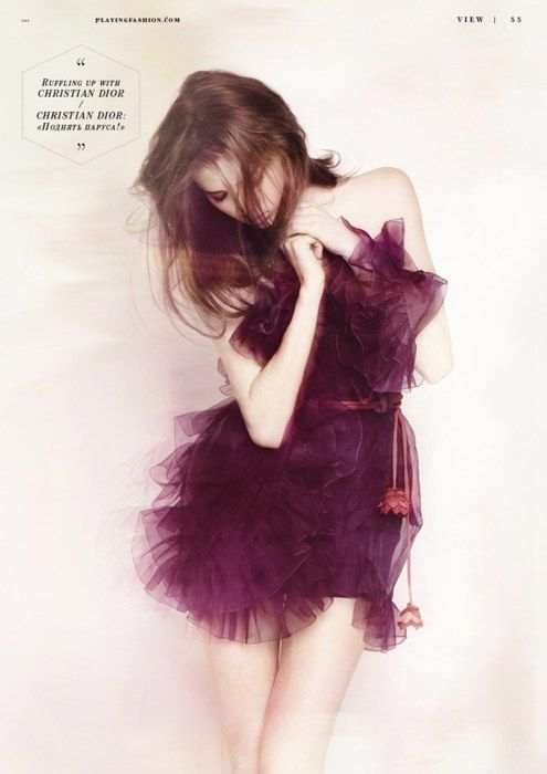 Christian Dior: Ruffle, Fashion, Style, Christian Dior, Color, Dresses, Purple Dress, Wedding Dress, Photography