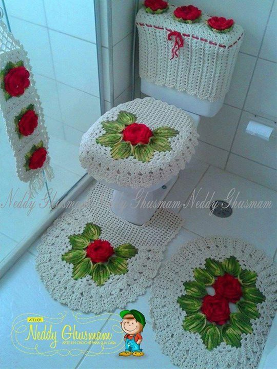 185 best images about Juegos de Baño a Crochet on ...
