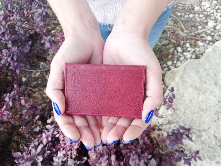 Leather Card Holder, Card Holder, Bordeaux Cards Wallet, Credit Card Holder, Small Wallet Gift, Christmas Gift, Leather Accessories, Wallet