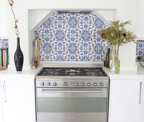 Turkish tile kitchen backsplash