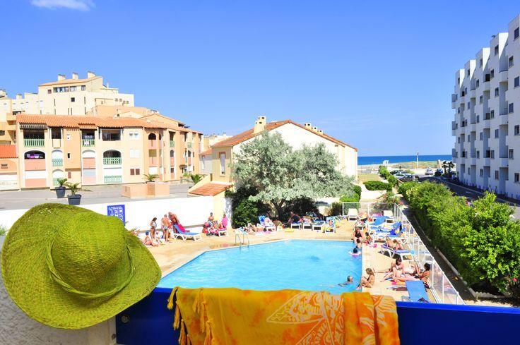 La résidence Le Grand Bleu à Port Barcarès - Vue sur Mer et piscine extérieure- Découvrez les vacances chez Goelia !