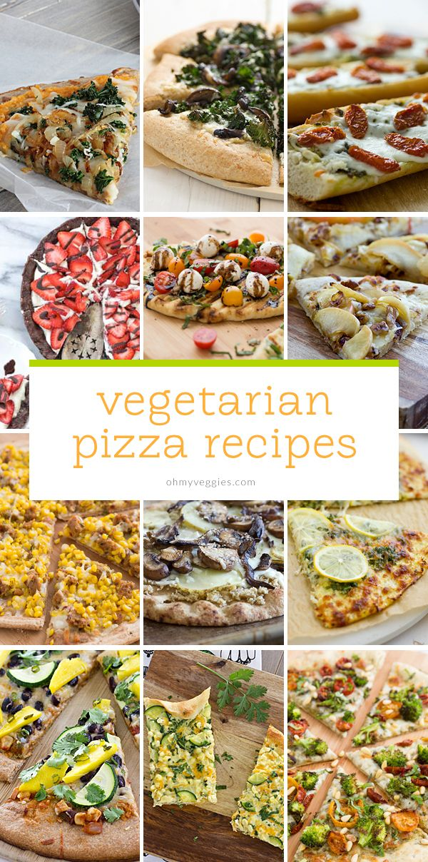 15 Vegetarian Pizza Recipes from Oh My Veggies