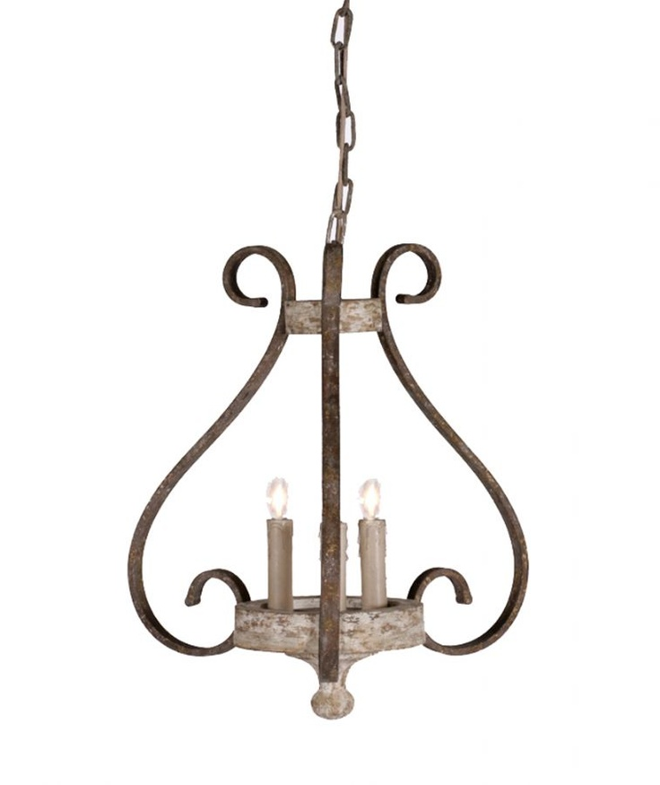 Mildred walker iron and wood chandelier