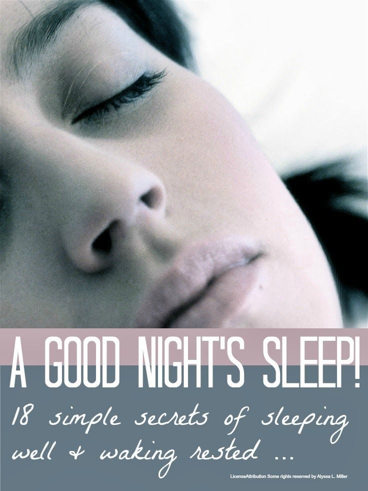 18 tips and tricks to help you have a better night's sleep! #sleep #health #beauty