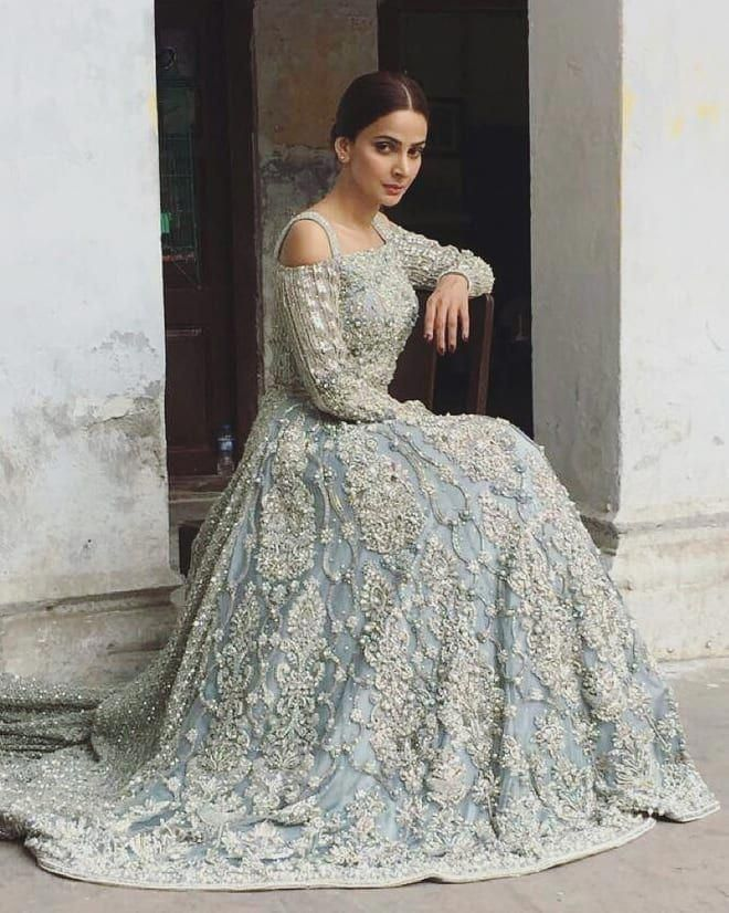050630baaeca7 Pakistani Bridal Couture, Indian Bridal Wear, Blue Bridal, Pakistani Bridal  Dresses, Indian. Visit. April 2019