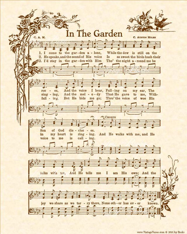 The 25+ best In the garden hymn ideas on Pinterest | Framed sheet ...