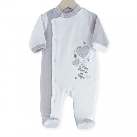 "Newborn sleepsuit ""I love Mum and Dad"" #baby #sleepsuit #ilovemumanddad"