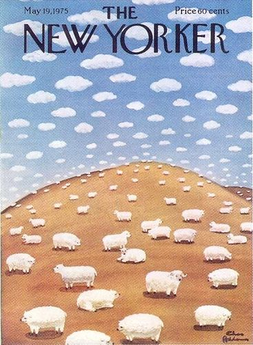 The New Yorker magazine cover, May 19, 1975 by Gatochy,