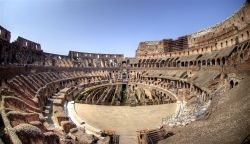 The purpose of the Roman Colosseum was to hold gladiator games, dramas, and animal hunts. It can seat around 50,000 visitors! famouswonders.com