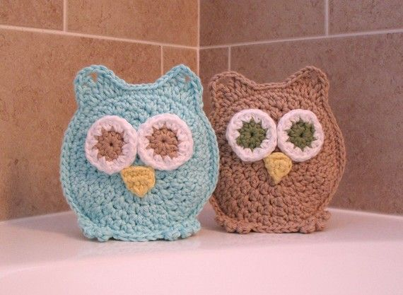 Owl washclothOwls Washcloth, Crochet Pattern For Bath Mitt, Washcloth Washmitt, Crochet Owls, Washcloth Crochet, Clothing Mitt, Washmitt Stockings, Clothing Bath, Bath Time
