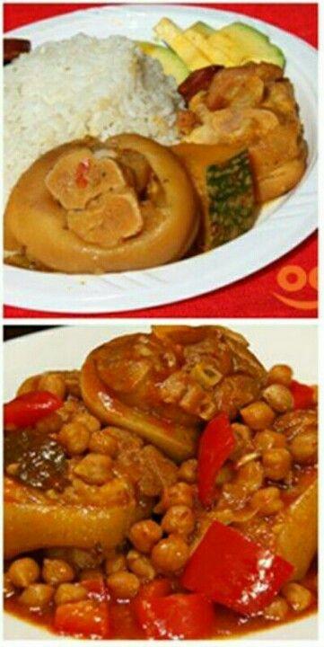 .patitas con garbanzos::: me muero... I love my Puertorican food.