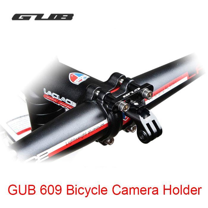 新しいgub 609アルミバイクホルダーアダプタ用のgoproカメラとライトランプホルダー自転車幹マウントアクセサリーデジタルカメラ