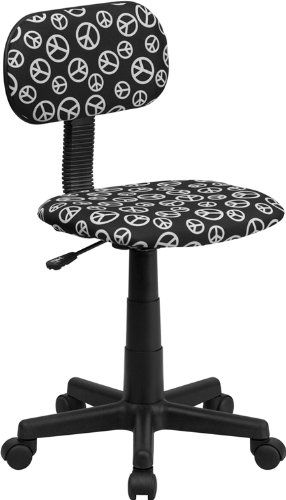 new peace sign printed computer chair dorm teen flash furniture christmas gift - Desk Chairs For Teens
