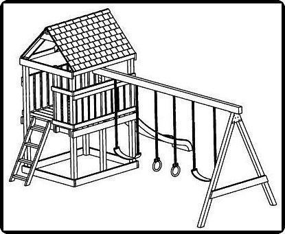 jungle gym and playhouse swing set plans 5