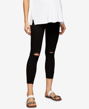 ARTICLES OF SOCIETY ARTICLES OF SOCIETY MATERNITY DISTRESSED BLACK WASH SKINNY JEANS. #articlesofsociety #cloth #