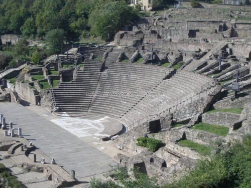 Lyon :Le théâtre antique Gallo-Romain de Fourvière