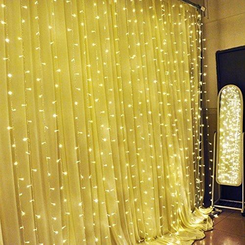 Ucharge Curtain Light 304led 9.8ft*9.8ft Christmas Festival Curtain String Fairy Wedding Led Lights for Wedding, Party, Window, Home Decorative -  (Warm White)  This led #decoration #curtain #light is composed by a controller and main curtain light two parts.It with 8 function mode, sample assembling and convenient for suing. Idea for indoor and outdoor decorative. Suit for party, patio, garden,or home decoration .