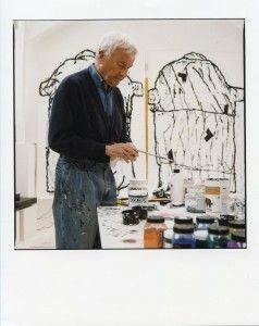 François Dilasser dans son atelier, 2001_Photo Denis Dailleux – Agence Vu'