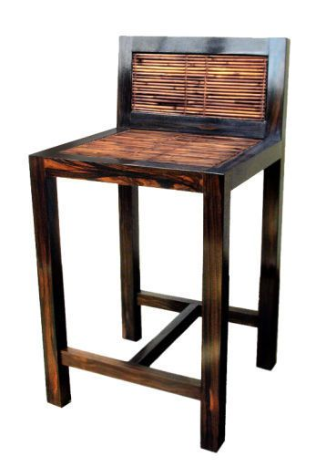 Awesome Wood and Rattan Bar Stools