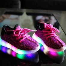 US $12.13 EUR 21-36 Luminous Sneakers Kids Shoes For Girl Led Sneakers With Boys Fashion Lighted Mesh Print Children Casual Sports Shoes. Aliexpress product