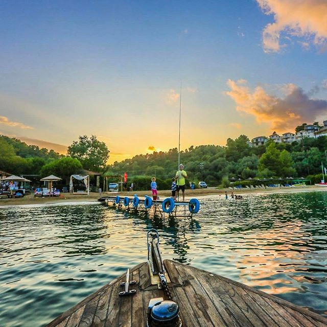 Let's go fishing #Skiathos #Greece #weloveskiathos #skiathosfacebook #skiathosrepost #beachlude #sunset #7seconds