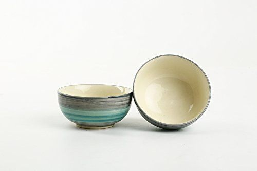 Caffeine Ceramic Handmade Multicolor Strokes Sculpted Katori Bowl (Set of 2) This is a perfect product of modern handmade pottery art at the same time elegant piece of ceramic works. This is a cute combination Katori set of 2 pieces with perfect glossy ceramic finish. This is beauty of hand art... see more details at https://bestselleroutlets.com/home-kitchen/kitchen-dining/dining-entertaining/bowls/dessert-bowls/product-review-for-caffeine-ceramic-muticolor-handmade-strokes-