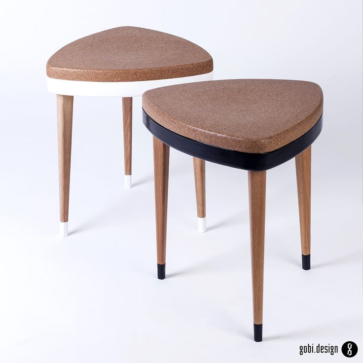 3 leg stool with cork top