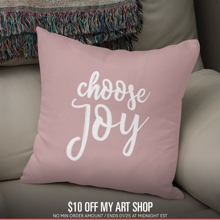 Discover «CHOOSE JOY», Numbered Edition Throw Pillow by Elina Koutsokera - From 25€ - Curioos
