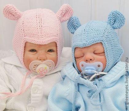 """Для новорожденных, ручной работы. Летняя шапочка """"Мы-Мышастики"""". Mария Green Eyes & сompany. Ярмарка Мастеров. На выписку"""