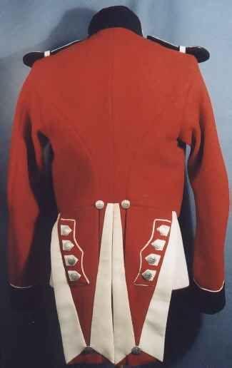 Back side view of a British Royal Marines Uniform, circa 1840-1855. ( U.S. National Parks Service).
