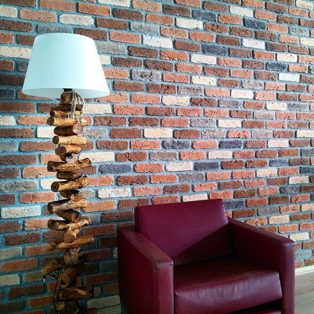 The Manhattan brick slips used for this Living Room Feature Wall