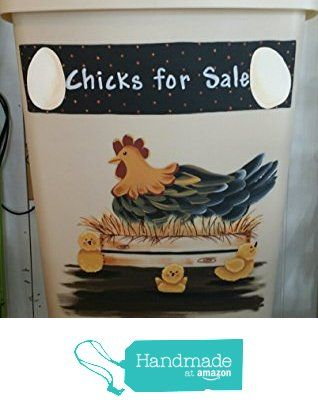 Chicks for Sale Large Kitchen Trash Can with Lid from Primitive Country Loft House(FREE SHIPPING) https://www.amazon.com/dp/B01C39871E/ref=hnd_sw_r_pi_dp_SyWGxbFTR9TZM #handmadeatamazon