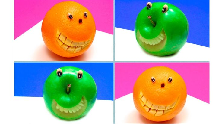 How to Make Orange and Apple Smiley Faces