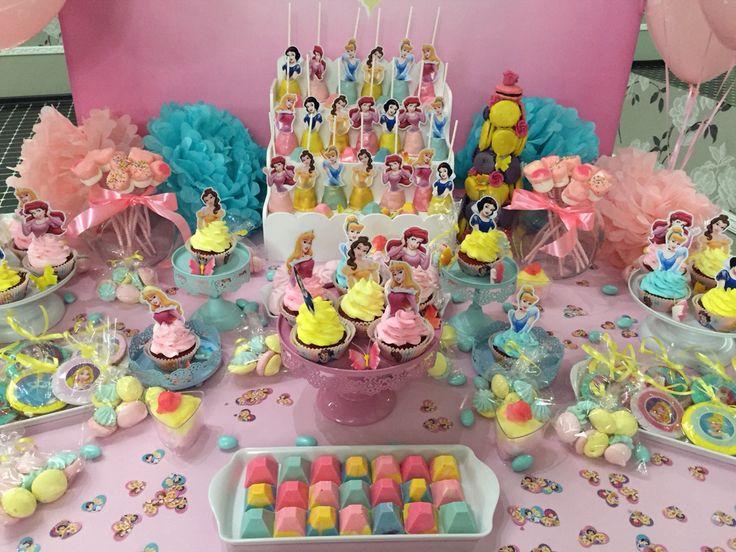 Disney princess dessert table