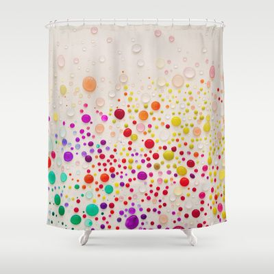 colorful shower curtain | coloring book
