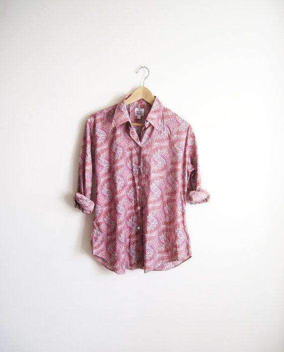 vintage  liberty of london print shirt