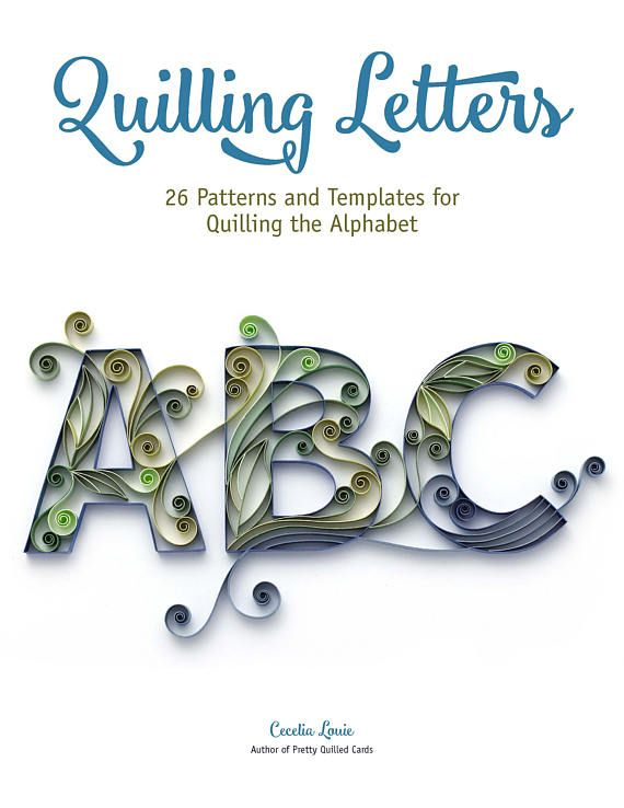 Start Quilling Letters Customize Your Gift Cards Or Frame A Monogram Letter Made Of Paper I Love Heartfelt Card For My Loved