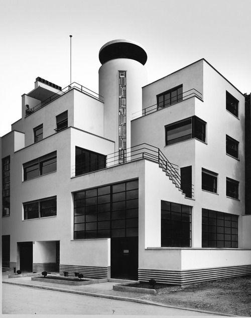 Robert Mallet Stevens (French, 1886-1945) | Villa des Frères Martel | Designed for brothers Jan and Joel Martel, both sculptors | Rue Mallet-Stevens 10, Paris | 1926