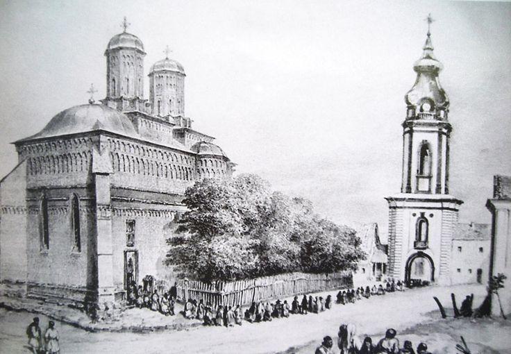 Mănăstirea Sfinţii Trei Ierarhi din Iaşi, anul 1837 (litografie de Auguste Raffet)