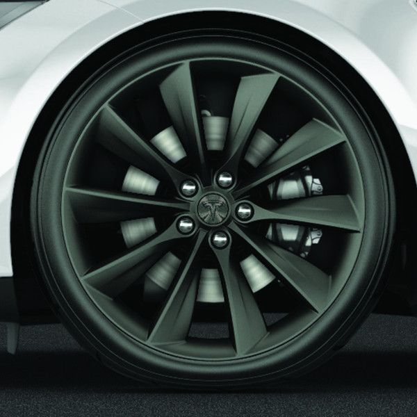 "Tesla -  21"" Turbine Wheel and Tire Package - Grey"