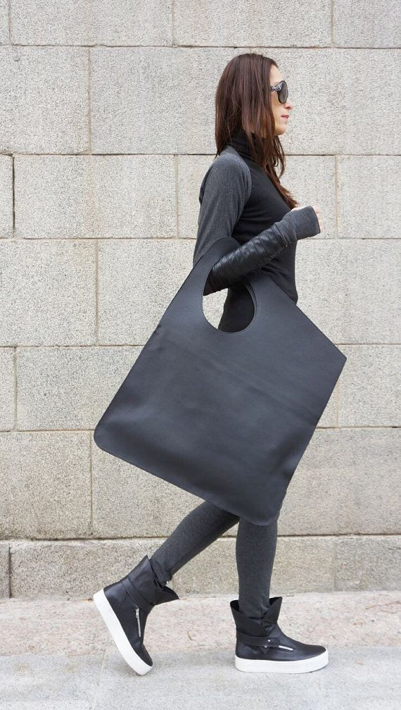 New LIMITED EDITION Perfo Genuine Leather Black Bag / by Aakasha