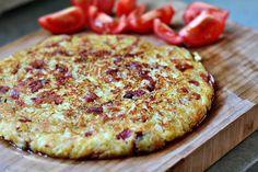 Frico - italiensk potatiskaka med lök, ost och bacon