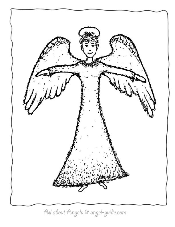 angels picture angel girl with halo our angel drawings of angel with halo to color free printable angel template for meditation practice and kids