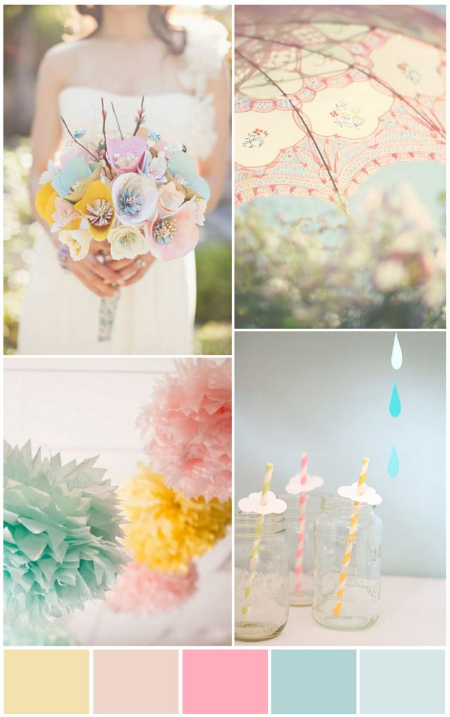 Color: Nurseries Colors, Yellow Pink Blue Wedding, Blue Pink Yellow Baby Rooms, Pale Pink Yellow Amp Blue Jpg, Colors Schemes, Baby Girls, Amor Pink, Girls Nurseries, Colour Schemes