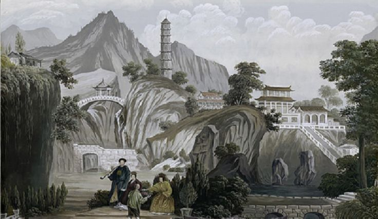 Chinese landscape in grisaille _BM