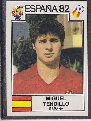 Panini - Espana 82 World Cup - # 298 Miguel Tendillo - Espana
