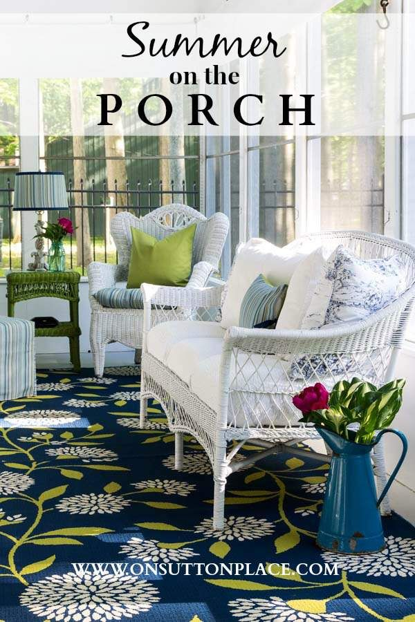 #DIY ideas for #summer #porch decor that make your outdoor space feel like an indoor room.